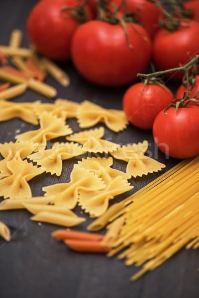 продовольствие деревенский древесины пасты помидоров фон Сток-фото © olira