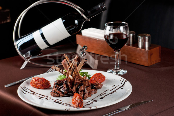 Roasted lamb chops Stock photo © olira