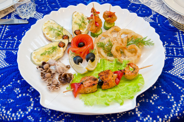 seafood set Stock photo © olira
