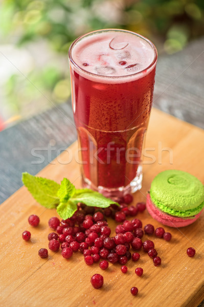 fruit drink with cranberries Stock photo © olira