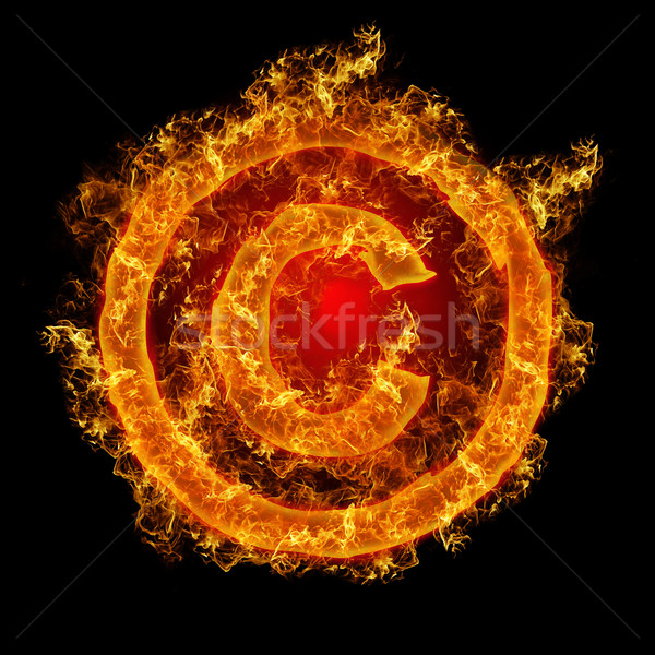 Fire sign Copyright Stock photo © olira