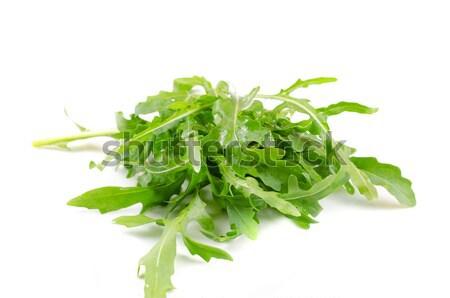 Stok fotoğraf: Salata · taze · yaprak · yalıtılmış · beyaz
