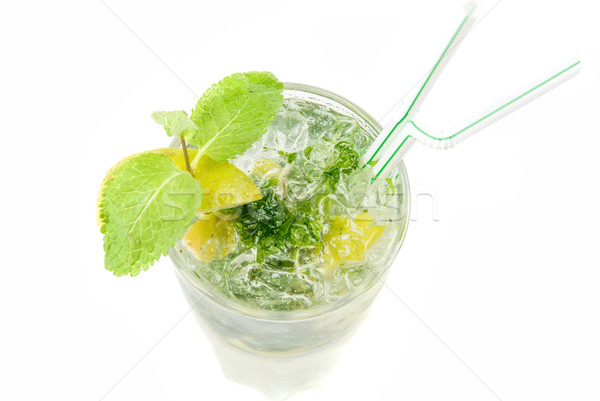 mojito alcohol fresh cocktail closeup Stock photo © olira