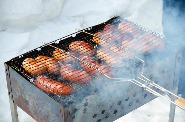 гриль гриль дым вечеринка Сток-фото © olira