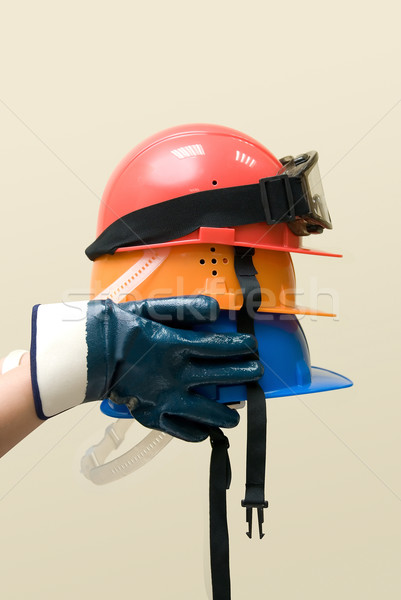 Colored helmets Stock photo © olira
