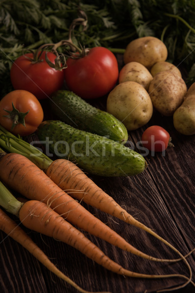 freshly grown raw vegetables Stock photo © olira