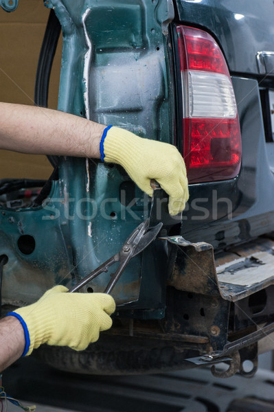 Repairing automotive body Stock photo © olira