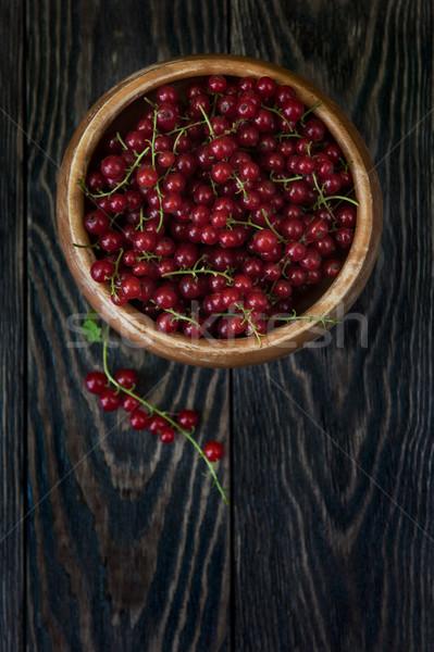 Fresh red currants Stock photo © olira