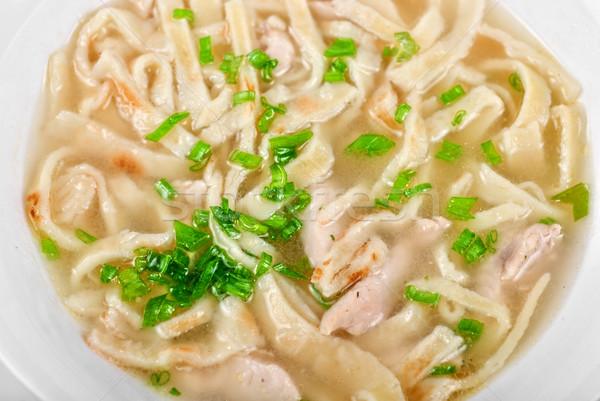 鶏 ヌードル スープ 孤立した 白 健康 ストックフォト © olira