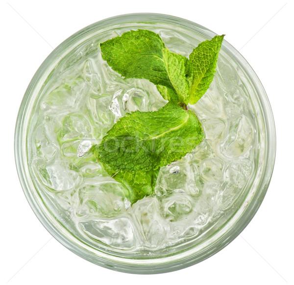 świeże mojito odizolowany biały szkła tle Zdjęcia stock © olira