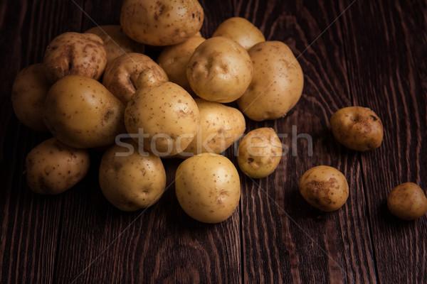 Vers gegroeid aardappel houten tafel natuur boerderij Stockfoto © olira