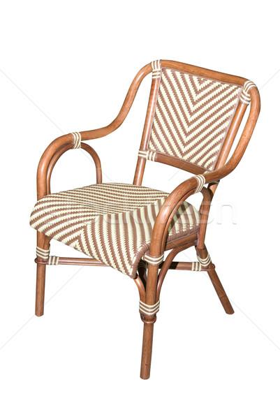 Sedia isolato bianco legno design interni Foto d'archivio © olira