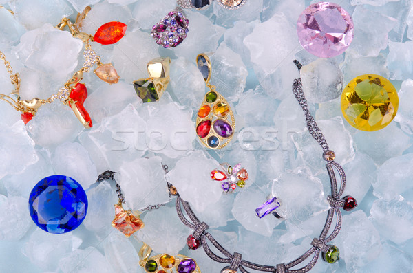 Jewels at ice Stock photo © olira