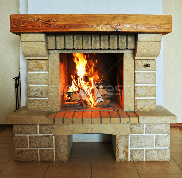 Fireplace Stock photo © olira