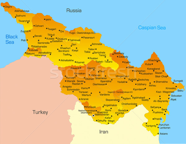 Caspian region countries Stock photo © olira