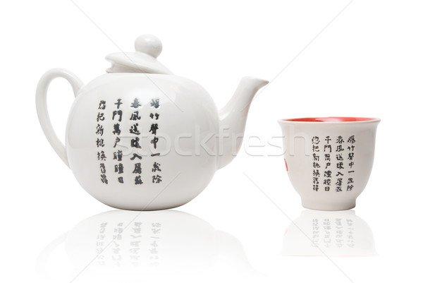 Tea-things in asian style Stock photo © olira
