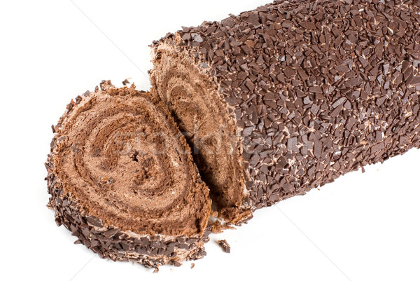 Chocolate Swiss roll Stock photo © olira