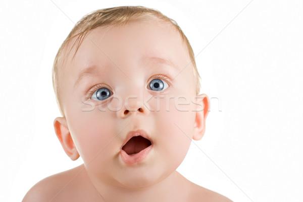 Bebé nino funny mueca retrato primer plano Foto stock © olira