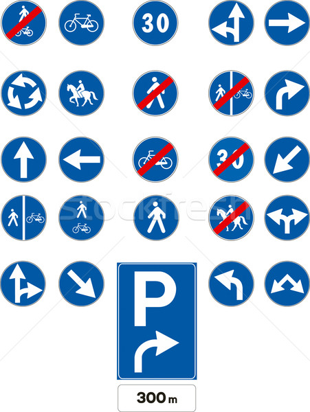 Stock photo: Vector traffic signs
