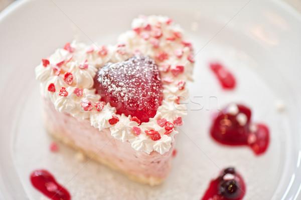 Walentynki ciasto smaczny żywności ślub miłości Zdjęcia stock © olira