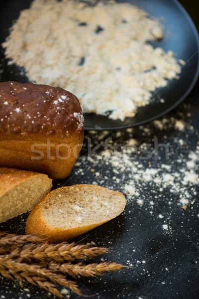 Bread composition with wheats Stock photo © olira