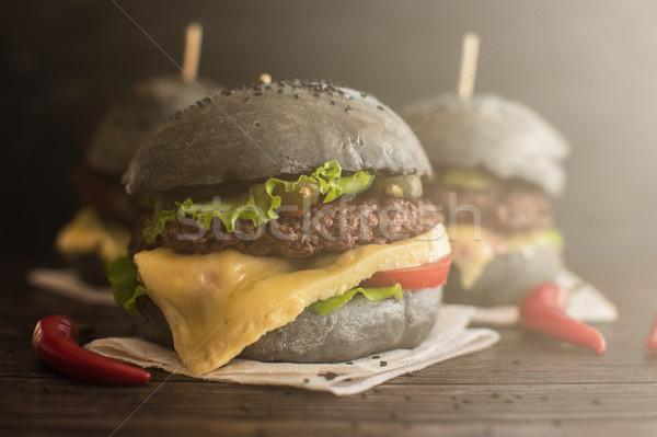Big Black burger Stock photo © olira