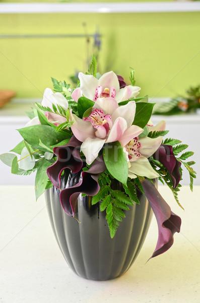 婚禮 花卉 表 愛 商業照片 © olira