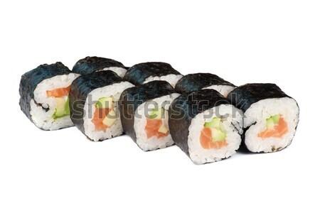 Sushi fresche maki isolato bianco Foto d'archivio © olira