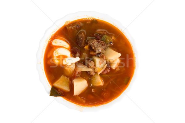 borscht soup  Stock photo © olira