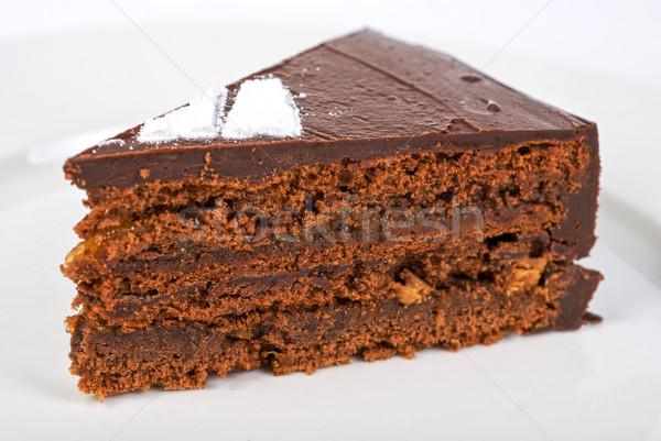 Tasty chocolate cake Stock photo © olira