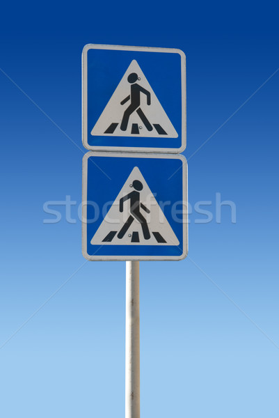 Pedestrian Sign Stock photo © olira