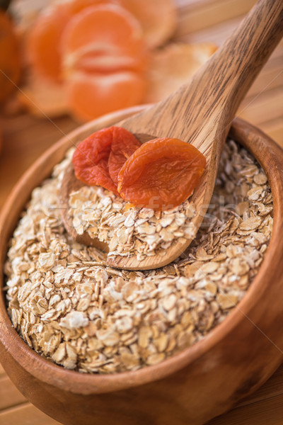 Avoine séché bois plaque alimentaire Photo stock © olira