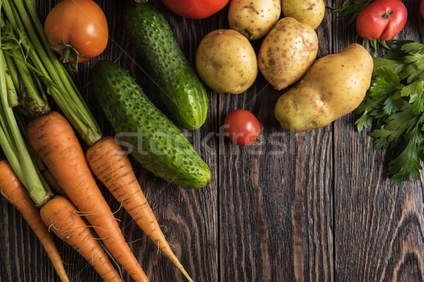 Augmenté brut légumes Photo stock © olira