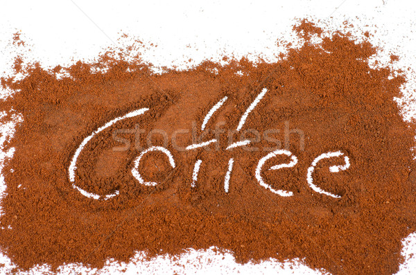 milled coffee sign Stock photo © olira