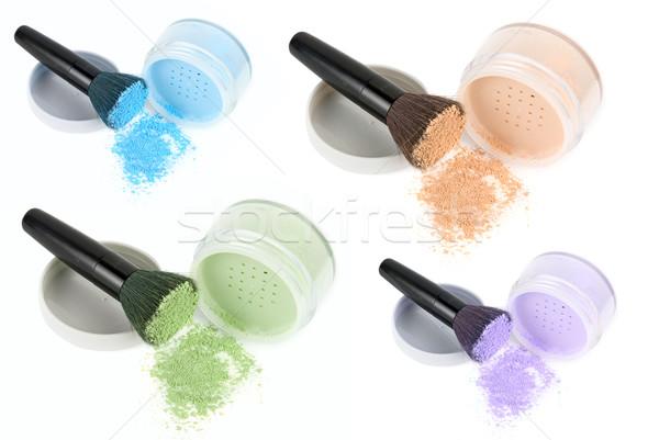 Color face powders set  Stock photo © olira