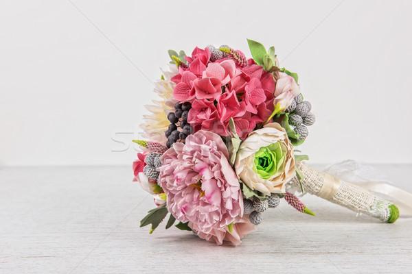 結婚式 花 春 愛 葉 美 ストックフォト © olira