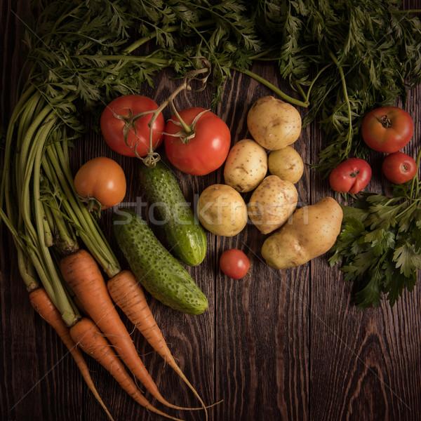 Vers gegroeid ruw groenten Stockfoto © olira
