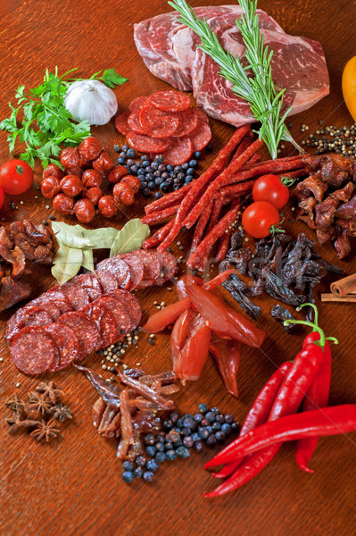 meat and sausages Stock photo © olira
