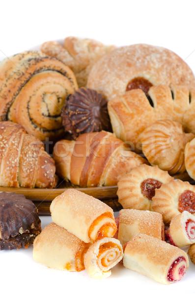 Panadería establecer blanco cena desayuno Foto stock © olira