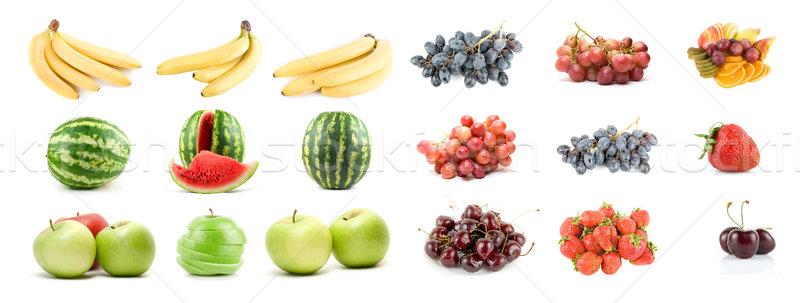 набор плодов овощей изолированный белый продовольствие Сток-фото © olira