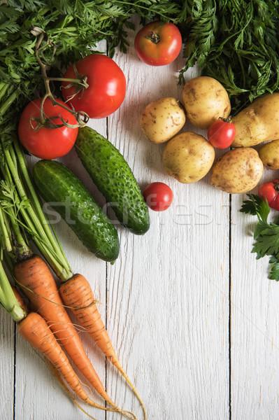Frissen megnőtt nyers zöldségek közelkép különböző Stock fotó © olira