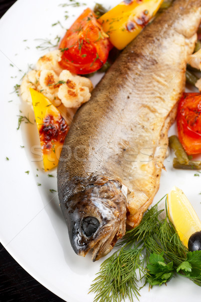 Pstrąg ryb pieprz ciąg fasola Zdjęcia stock © olira