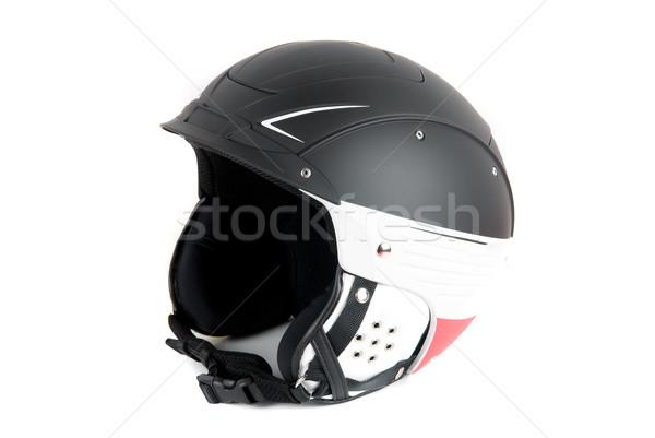 スキーヤー ヘルメット 孤立した 白 ファッション 背景 ストックフォト © olira