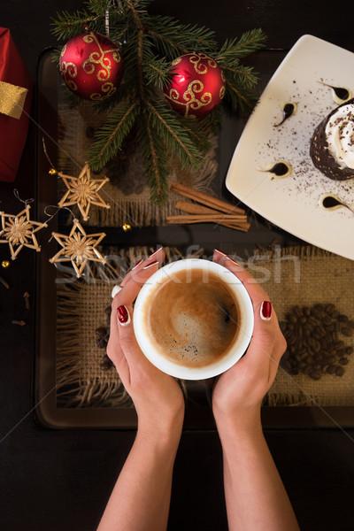 new year coffee Stock photo © olira