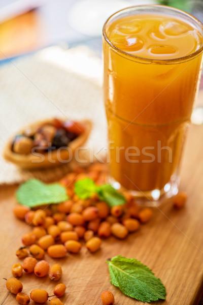 фрукты пить морем продовольствие медицинской стекла Сток-фото © olira