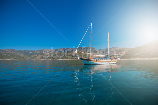yacht on bay Stock photo © olira