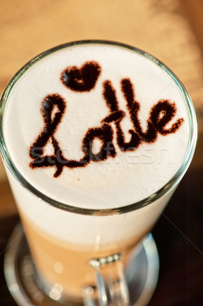 latte closeup Stock photo © olira
