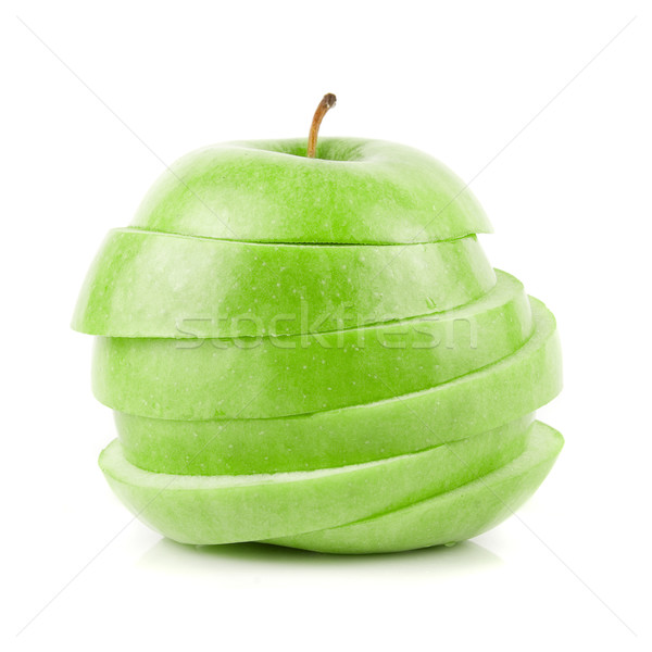 Sliced green apple Stock photo © olira