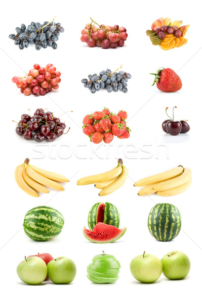 Set of fruits and vegetables Stock photo © olira