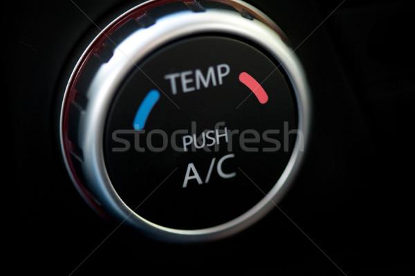 空調装置 車 光 青 空気 ストックフォト © olira